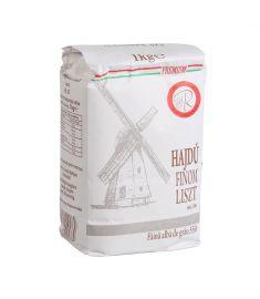 Făină albă BL 55 Hajdu Finom, în ambalaj de 1kg. Produs fără OMG. Conține gluten. Excelentă pentru pâine, aluat pizza, prăjituri.