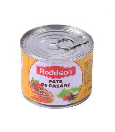 Pate pasăre Roddson în cutie de 200 grame, este fabricat în România. Produs sterilizat