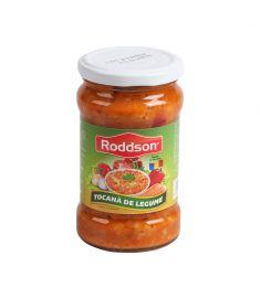 Tocană de legume 314ml este un produs românesc marca Roddson, pentru care am utilizat legume de cea mai bună calitate pentru a garanta gust și savoare fără egal. Produs sterilizat.
