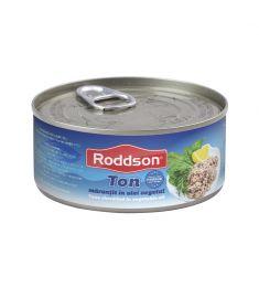 Ton mărunțit în ulei vegetal Roddson în cutie de 160 grame, este un produs din gama premium, delicios și sănătos, produs în Vietnam. Produs sterilizat.